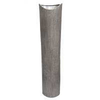 Silver ceramic urn 10 x 7 x 47''