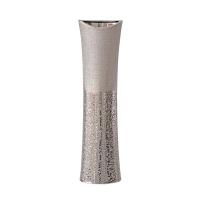 Urne céramique argent texturée 6,5 x 23,5 x 4''