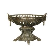 Bronze urn 11 x 14 x 15''