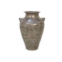 Bronze urn 17 x 16 x 25''