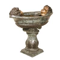 Bronze urn 18 x 33 x 30''