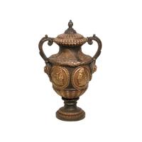 Bronze urn 20 x 14 x 31''