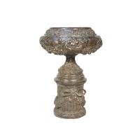 Bronze urn 21 x 21 x 30''