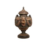 Bronze urn 21 x 21 x 33''