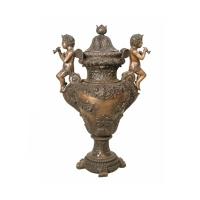 Bronze urn 22 x 15 x 37''