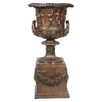 Bronze urn 22 x 18 x 36''