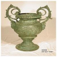 Bronze urn 23 x 17 x 32''