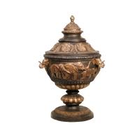 Bronze urn 23 x 23 x 35''