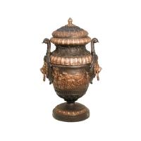 Bronze urn 23 x 23 x 36,5''
