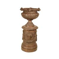 Bronze urn 23 x 23 x 48''