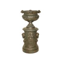 Bronze urn 24 x 23 x 48''