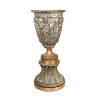 Bronze urn 25 x 25 x 58''