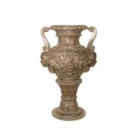 Bronze urn 26 x 22 x 39''