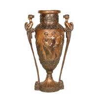 Bronze urn 27 x 17 x 45''