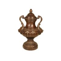 Bronze urn 27 x 21 x 40''