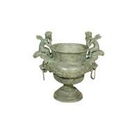 Bronze urn 33 x 21 x 32''