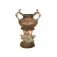 Bronze urn 33 x 24 x 47''