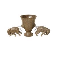 Bronze urn 34 x 13 x 16''