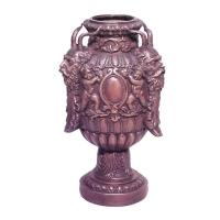 Bronze urn 6 x 6 x 12''