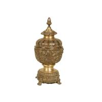 Bronze urn 9 x 9 x 20''