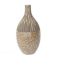 Cream ceramic urn 11,6''