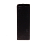 Brown rectangular vase 11''