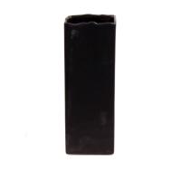 Vase rectangulaire brun 4x4x11''