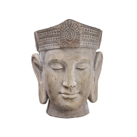 Vase bouddha, ciment 17,4 x 13 x 13''
