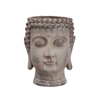 Vase bouddha, ciment 8,5 x 6 x 6''
