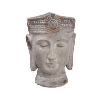 Vase bouddha, ciment 9,5 x 6,75 x 6,75''