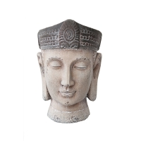 Pot bouddha gris
