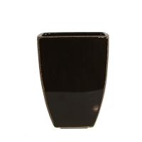 Black squared vase 5x5x6