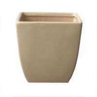 Vasé carré couleur ivoire 4x4x4