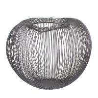Vase contemporain noir 11x10,6x9,1''