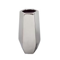 Vase en céramique argent 4,5 x 4,5 x 10,5''