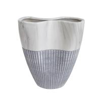 Gray ceramic vase 7,5 x 3,5 x 10''