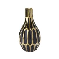 Black & Gold Vase, 12''