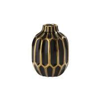Black & Gold Vase, 8''