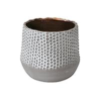 Vase texturé en céramique 4 x 4,5 x 4,5''