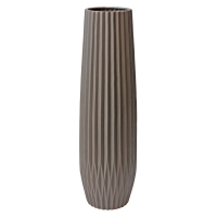Dark Grey Textured Ceramic Vase, 27''