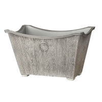 Faux birch metal container 11 x 17 x 17''