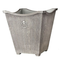 Faux birch metal container 18 x 18 x 18''