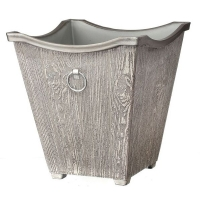 Faux birch metal container 12,5 x 14 x 14''