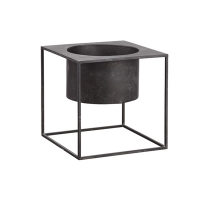 Metal planter on stand 12 x 12 x 12''