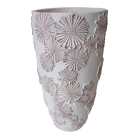 Patterned white vase