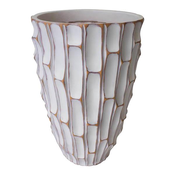 grand vase blanc textur e 18 5 39 39 d cors v ronneau. Black Bedroom Furniture Sets. Home Design Ideas