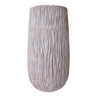 Striped grey vase, 26,5''