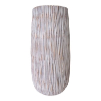 Striped white vase, 34''
