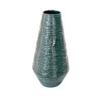 Dark Green Resin Vase