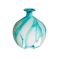 Vase en verre bleu 5,7''
